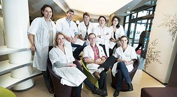 Equipe maternité de la clinique mathilde