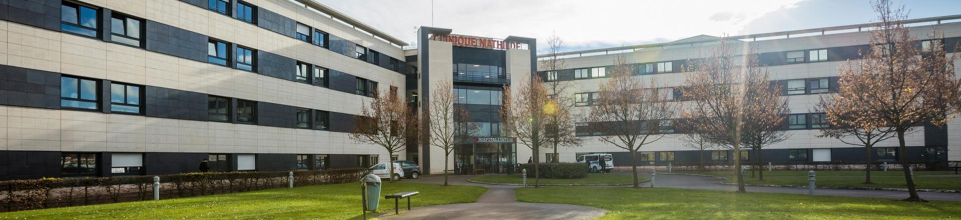 Façade de la clinique mathilde à Rouen